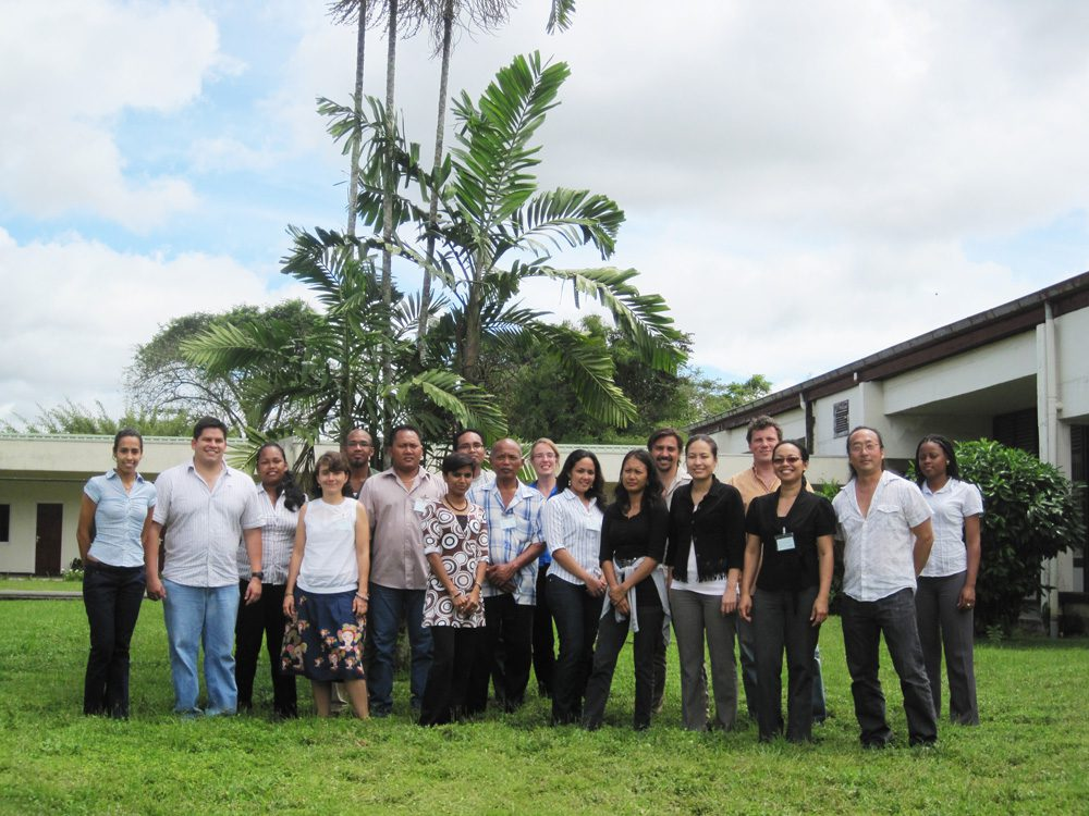 Group photo from 2012 Clark Labs training in Suriname.